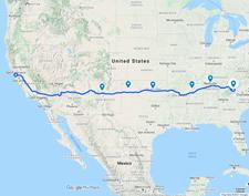San Francisco to Asheville, NC