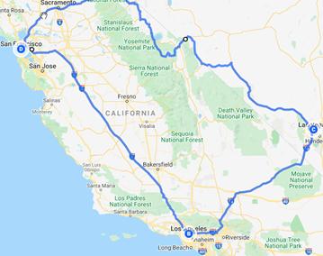 West Coast Triangle – SF to LA to Vegas
